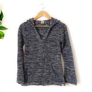Roxy Knit Hooded Long Sleeve Sweater